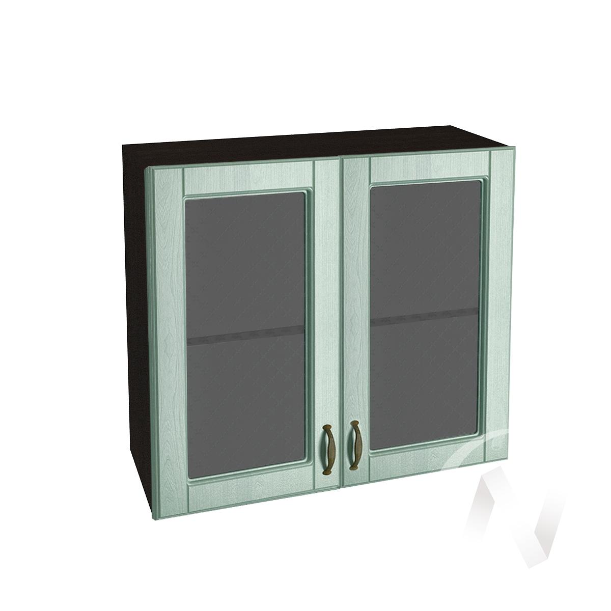 """Кухня """"Прованс"""": Шкаф верхний со стеклом 800, ШВС 800 (корпус венге)  в Новосибирске - интернет магазин Мебельный Проспект"""
