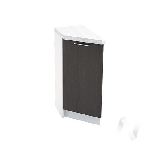 """Кухня """"Валерия-М"""": Шкаф нижний торцевой 300, ШНТ 300 (венге/корпус белый)"""