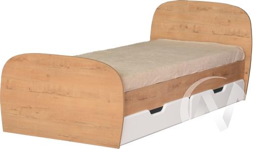 Скай М13 Кровать с ящиками 800*2000 (дуб бунратти/белый глянец)