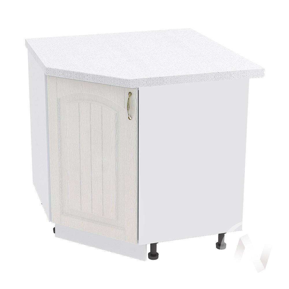 """Кухня """"Верона"""": Шкаф нижний угловой 890 левый, ШНУ 890 (ясень золотистый/корпус белый)"""