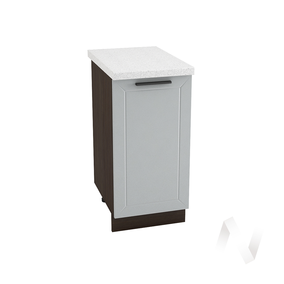 "Кухня ""Глетчер"": Шкаф нижний 400, ШН 400 (Гейнсборо Силк/корпус венге)"