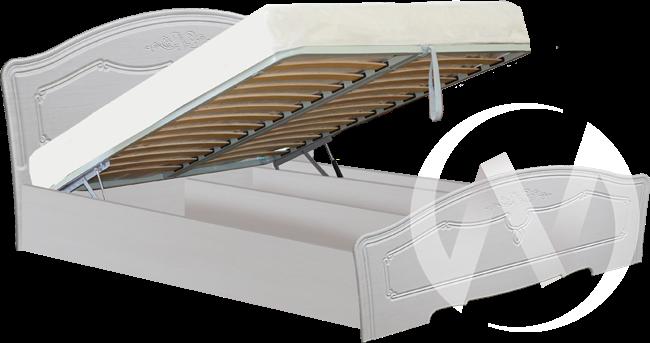 Ева Кровать 1,4 с подъемным механизмом (бодега-рельеф пастель) в Томске — авторская мебель Экостиль
