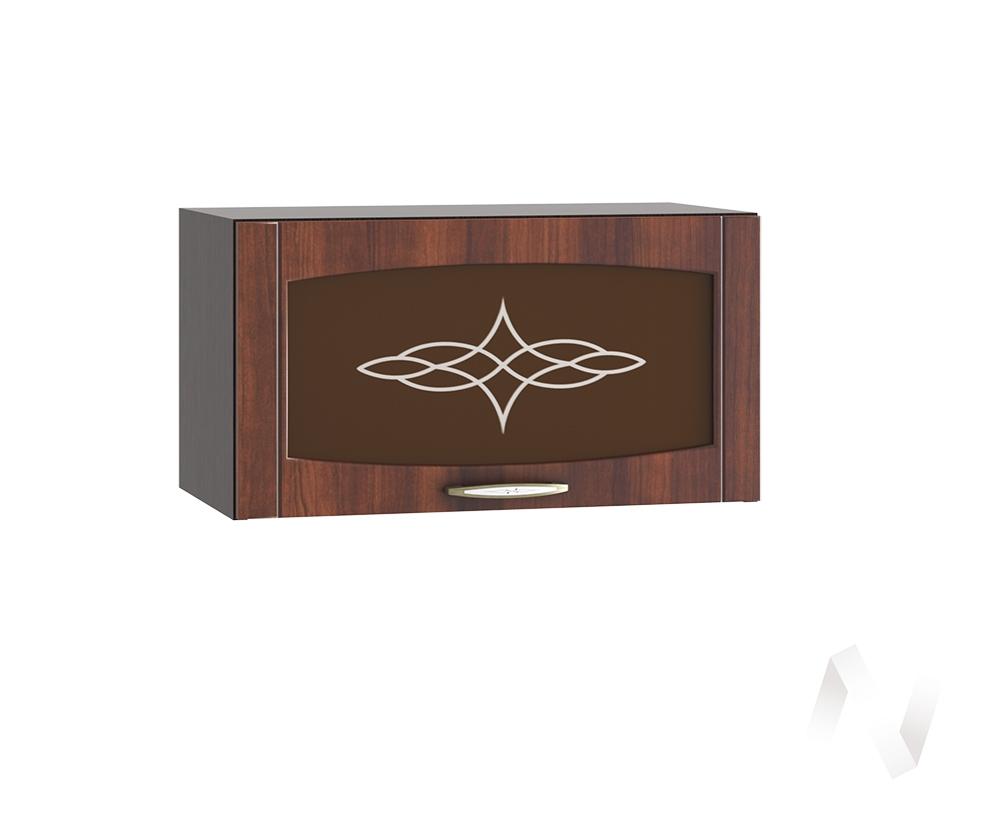 """Кухня """"Неаполь"""": Шкаф верхний горизонтальный со стеклом 600, ШВГС 600 (Италия/корпус венге)"""