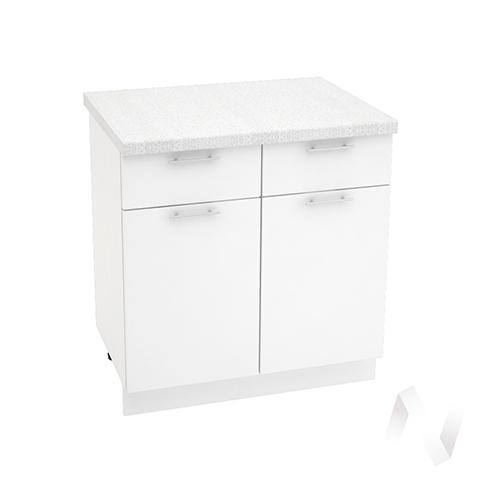 """Кухня """"Валерия-М"""": Шкаф нижний с ящиками 800, ШН1Я 800 (белый глянец/корпус белый)"""