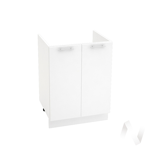 "Кухня ""Валерия-М"": Шкаф нижний под мойку 600, ШНМ 600 (белый глянец/корпус белый)"
