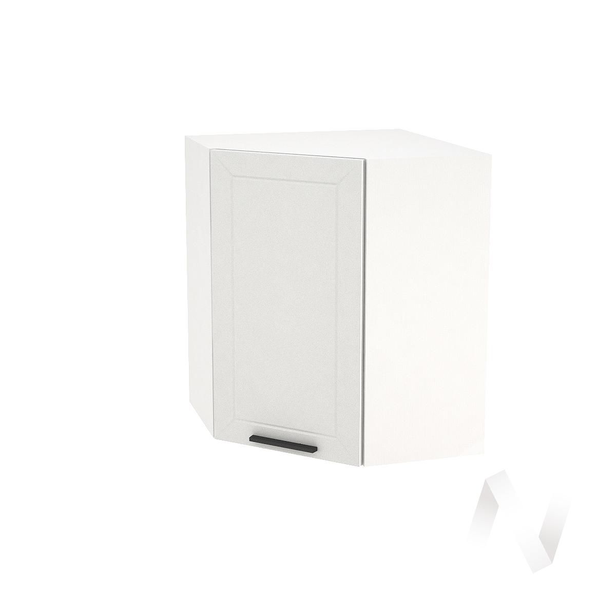 """Кухня """"Глетчер"""": Шкаф верхний угловой 590, ШВУ 590 (Айленд Силк/корпус белый)"""