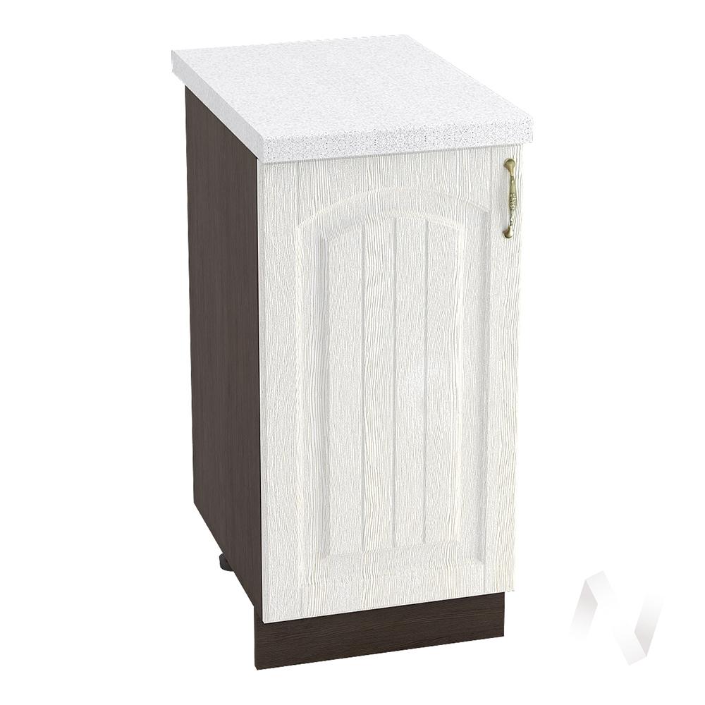 """Кухня """"Верона"""": Шкаф нижний 400 левый, ШН 400 (ясень золотистый/корпус венге)"""