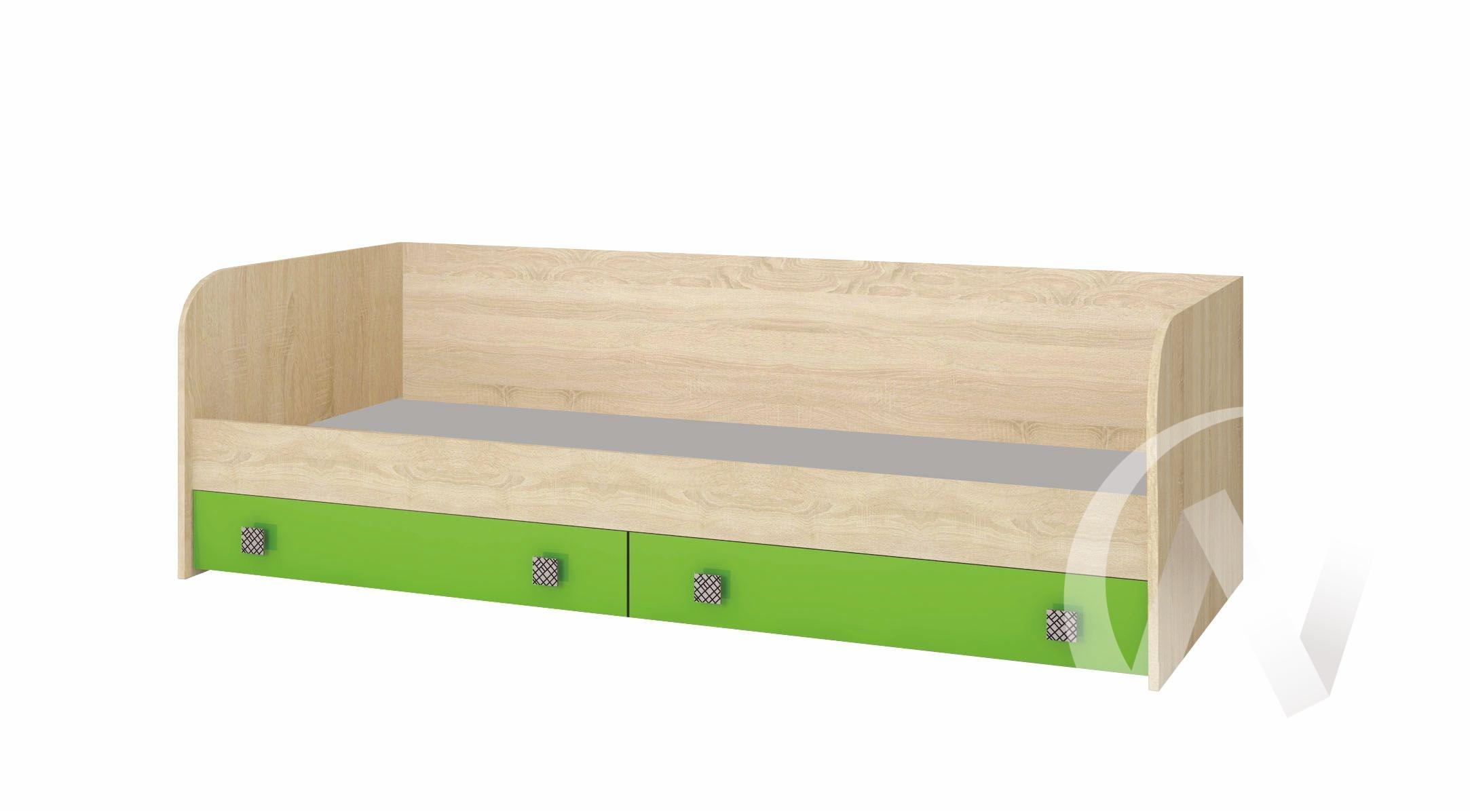 Кровать с ящиками Детская Колибри (дуб сонома/акрил мохито)