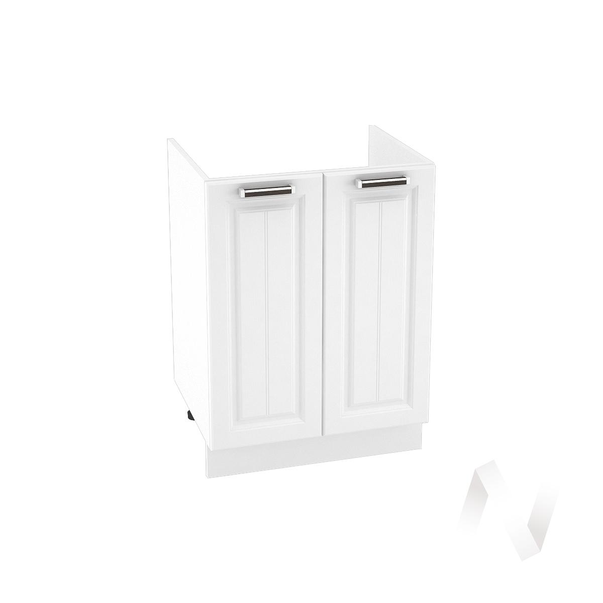"Кухня ""Прага"": Шкаф нижний под мойку 600, ШНМ 600 (белое дерево/корпус белый)"