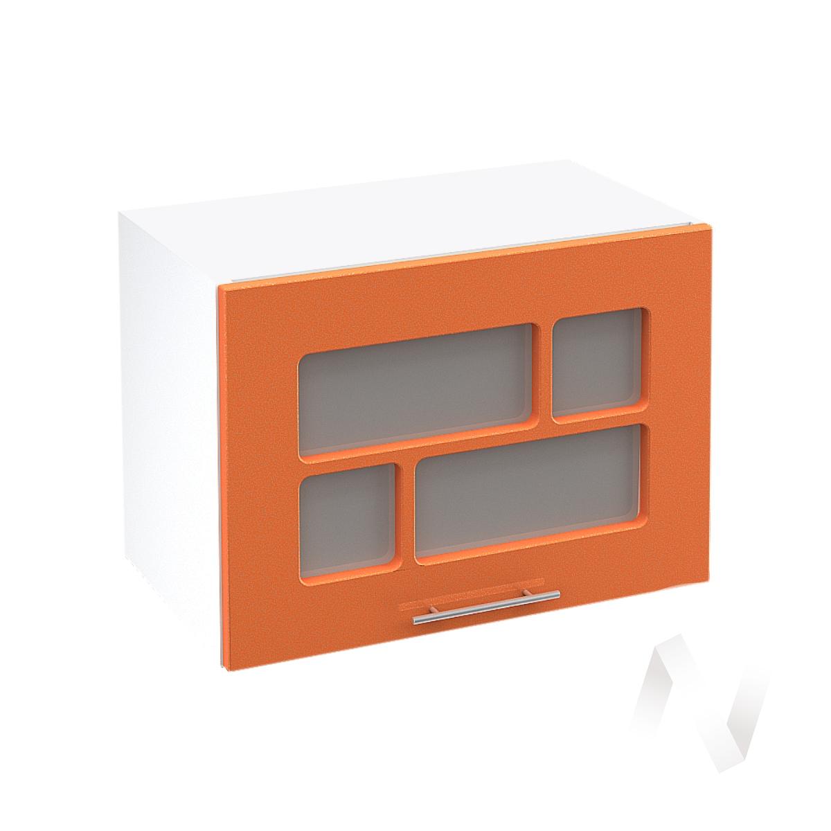 """Кухня """"Техно"""": Шкаф верхний горизонтальный со стеклом 500, ШВГС 500 (корпус белый)"""