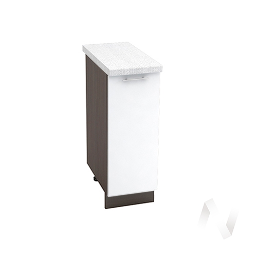 "Кухня ""Валерия-М"": Шкаф нижний 300, ШН 300 (белый глянец/корпус венге)"