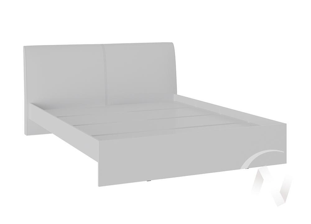 Кровать Доминика 1,4 основание ЛДСП (белый глянец/кожзам белый)  в Томске — интернет магазин МИРА-мебель
