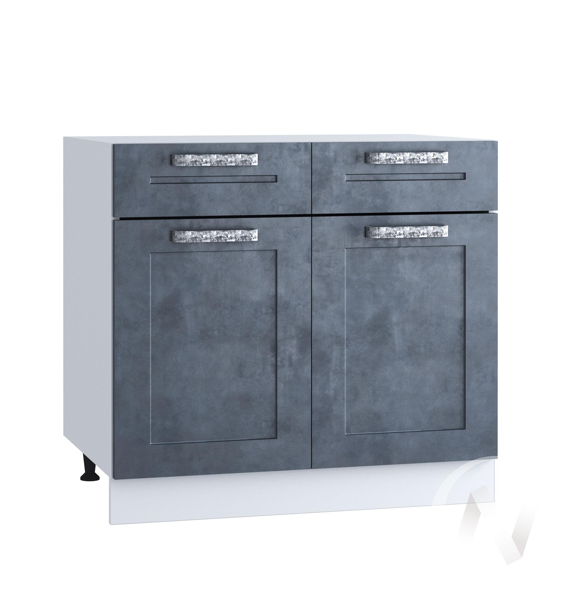 """Кухня """"Лофт"""": Шкаф нижний с ящиками 800, ШН1Я 800 (Бетон графит/корпус белый)"""