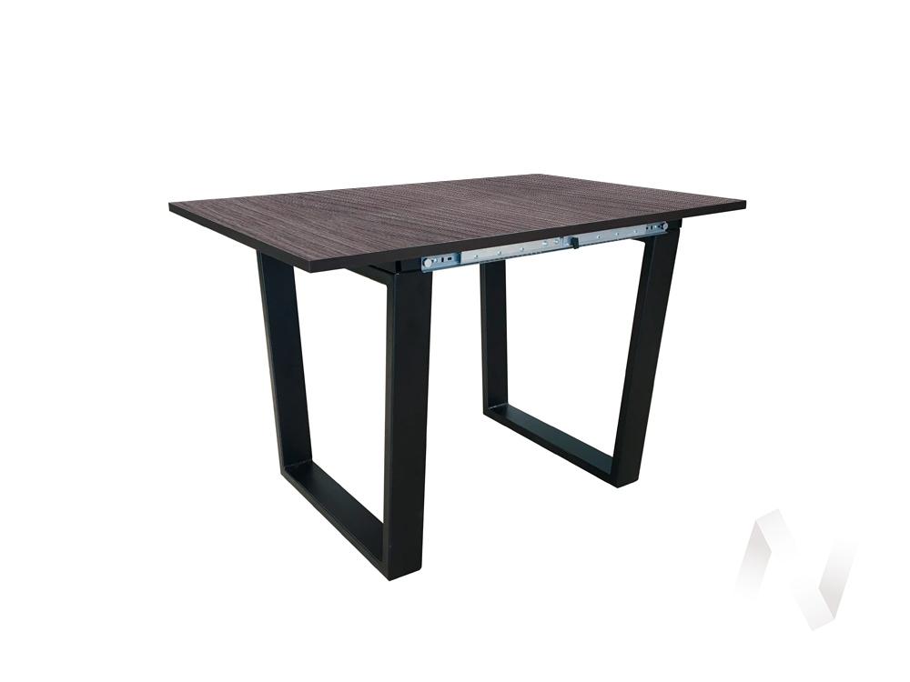 Стол раздвижной Flint 2 (венге/дуб линберг серый/металлокаркас черный)