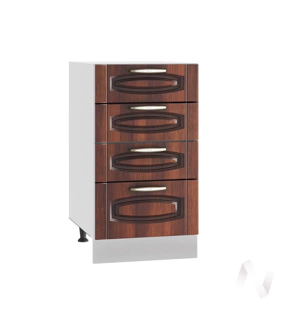 """Кухня """"Неаполь"""": Шкаф нижний с 4-мя ящиками 400, ШН4Я 400 (Италия/корпус белый)"""