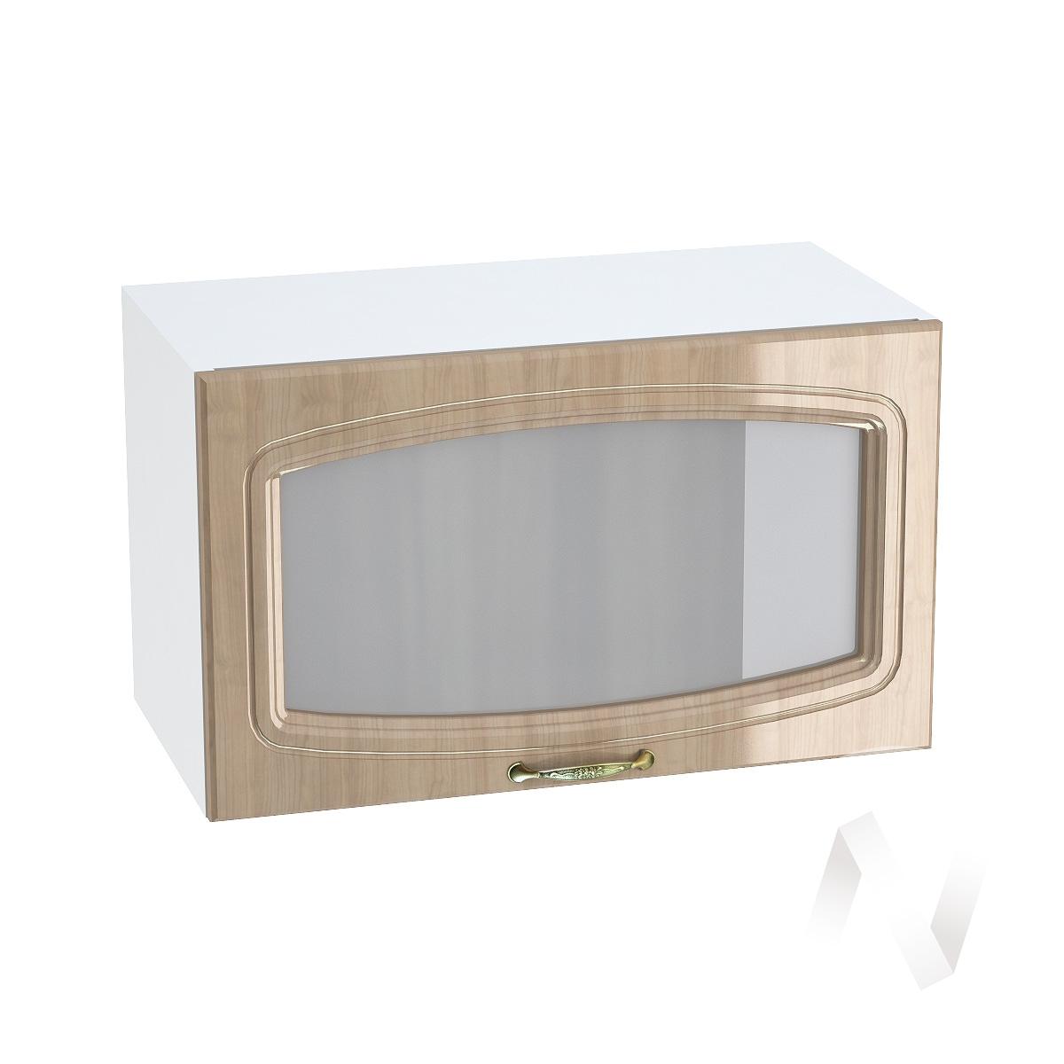 """Кухня """"Сити"""": Шкаф верхний горизонтальный со стеклом 600, ШВГС 600 (корпус белый)"""