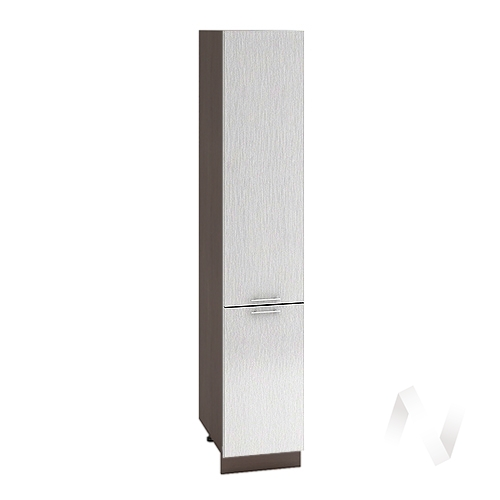 "Кухня ""Валерия-М"": Шкаф пенал 400, ШП 400 (дождь серый/корпус венге)"