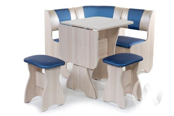 """Набор мебели для кухни """"Тюльпан"""" мини ясень 114эф./С-101"""