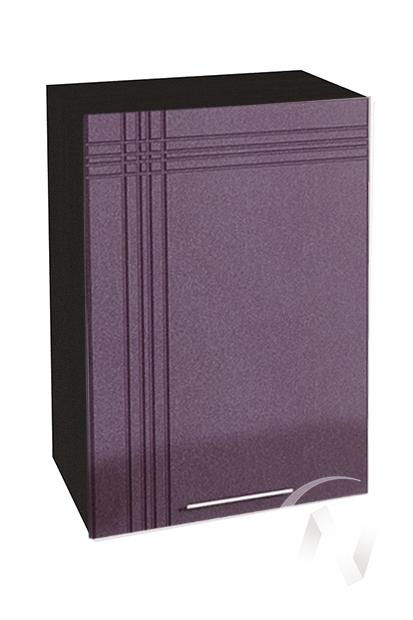 """Кухня """"Струна"""": Шкаф верхний 500, ШВ 500 (фиолетовый металлик/корпус венге)"""