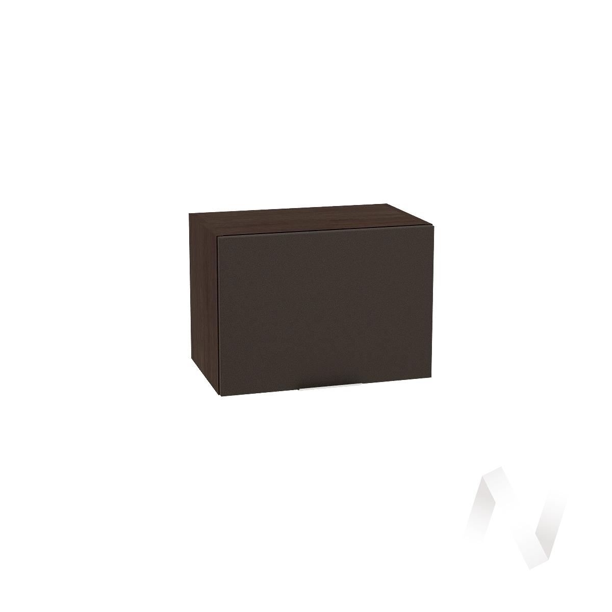 """Кухня """"Терра"""": Шкаф верхний горизонтальный 500, ШВГ 500 (смоки софт/корпус венге)"""