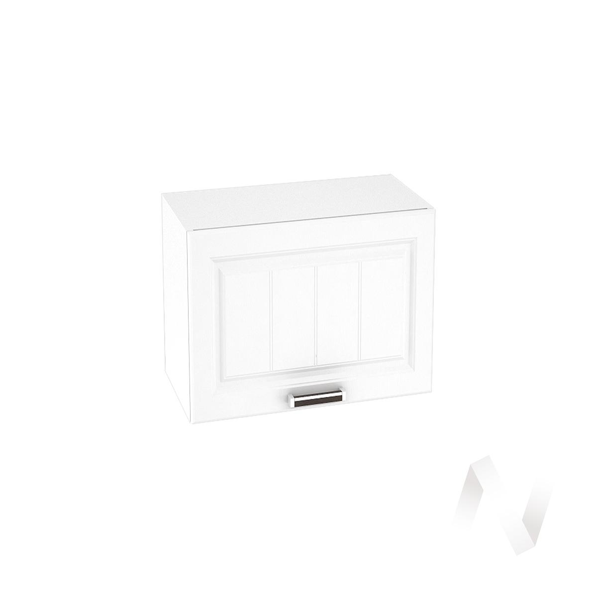 """Кухня """"Прага"""": Шкаф верхний горизонтальный 609, ШВГ 609 (белое дерево/корпус белый)"""