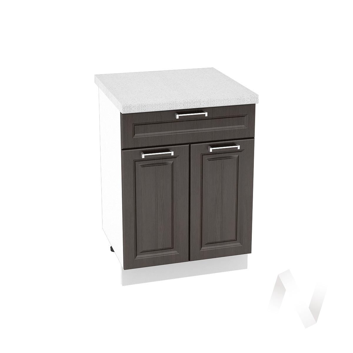 """Кухня """"Прага"""": Шкаф нижний с ящиком 600, ШН1Я 600 М (венге/корпус белый)"""