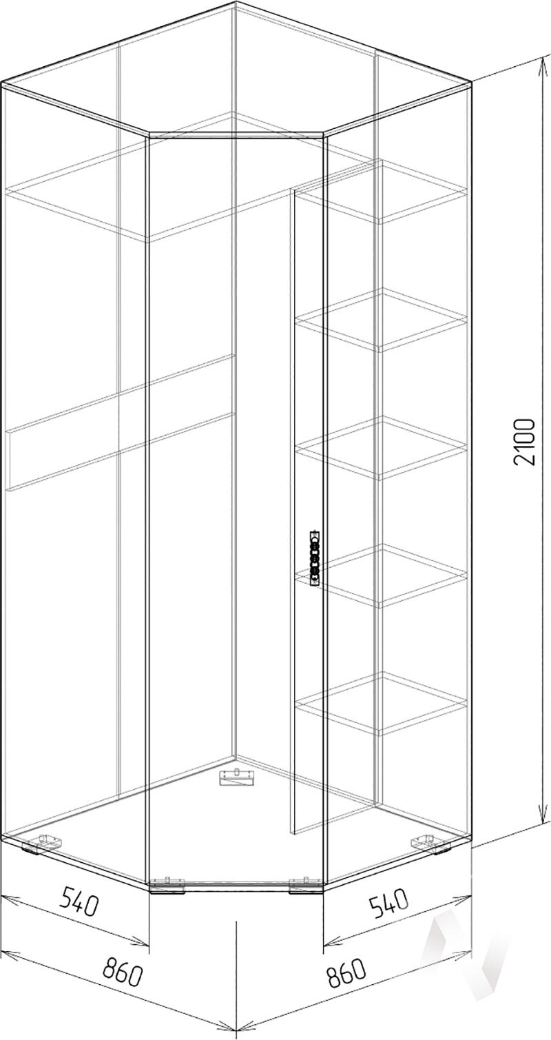 Нежность М14 Шкаф угловой левый (бодега/прованс)