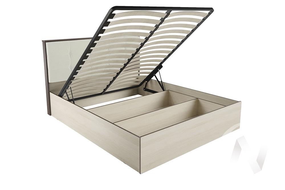 """Кровать """"ЛК-2 1,6"""" Ортопед с подъёмным механизмом (Дуб сонома/Велюр карамель)"""