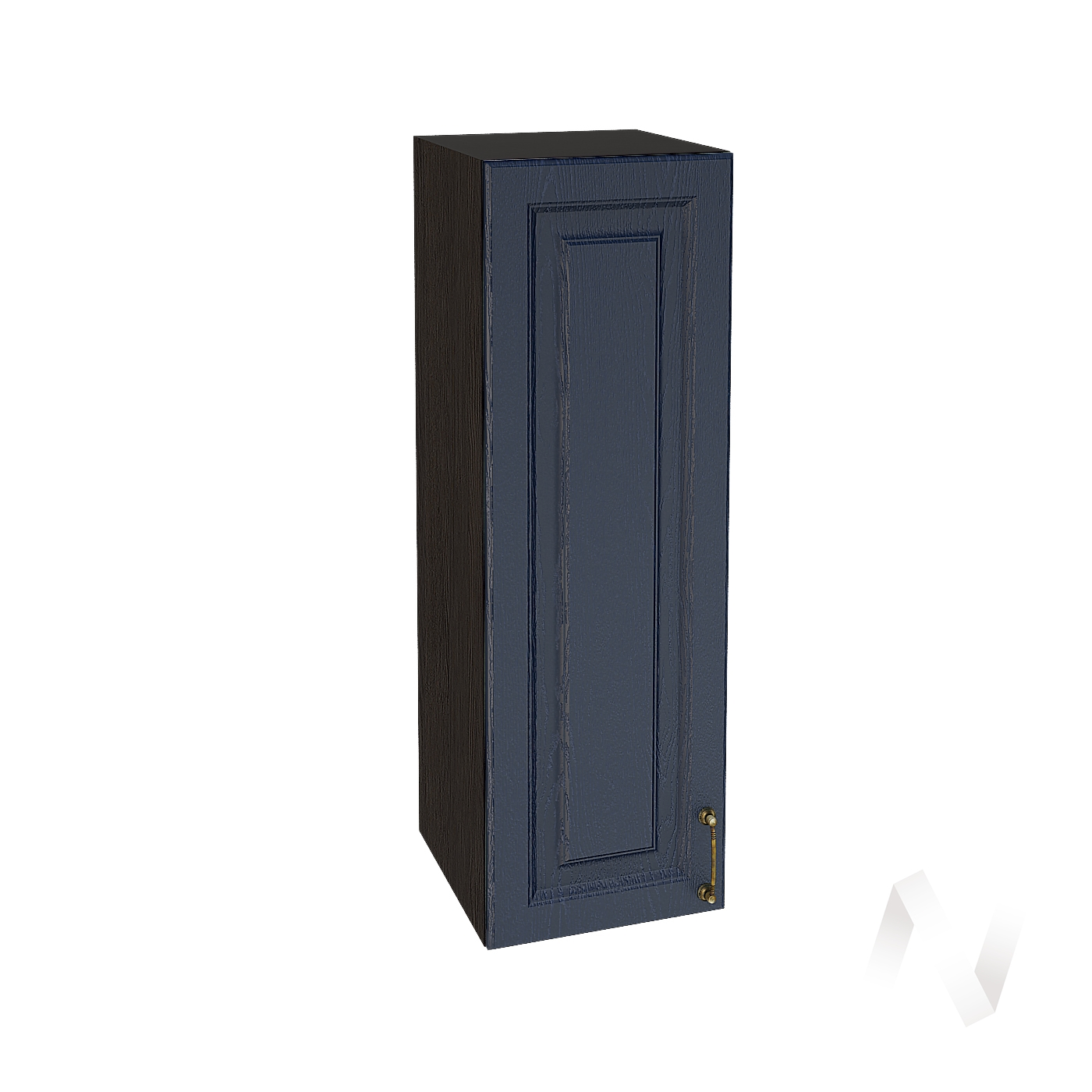 """Кухня """"Ницца"""": Шкаф верхний 309, ШВ 309 (Дуб чернильный/корпус венге)"""