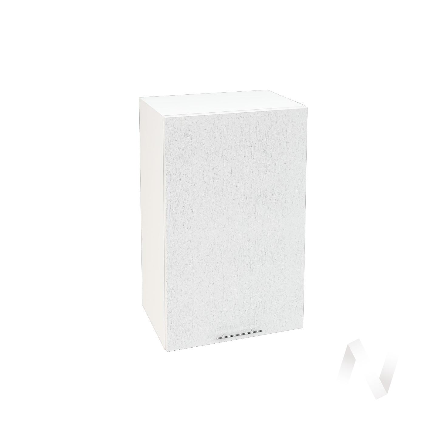 "Кухня ""Валерия-М"": Шкаф верхний 450, ШВ 450 (дождь серый/корпус белый)"