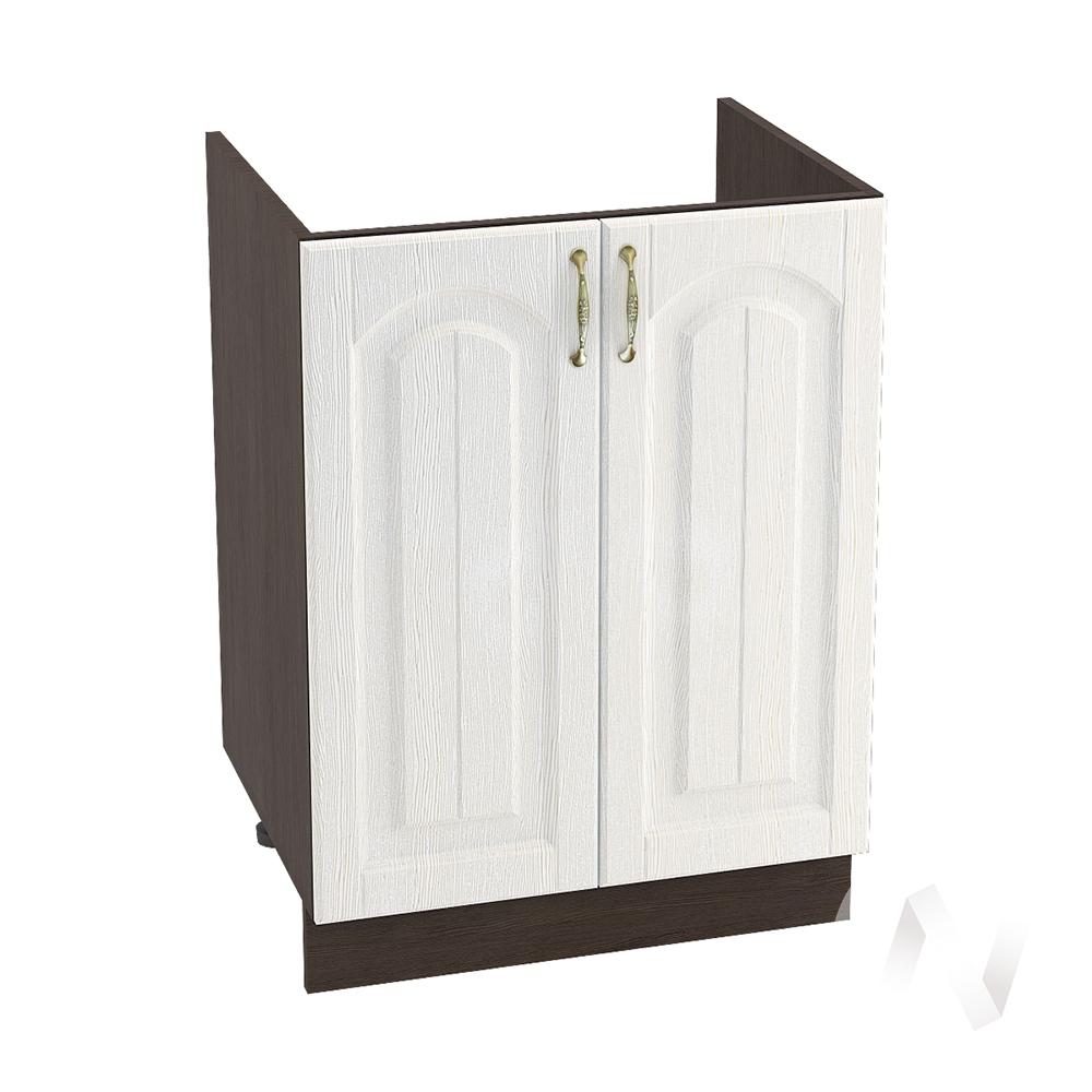 """Кухня """"Верона"""": Шкаф нижний под мойку 600, ШНМ 600 (ясень золотистый/корпус венге)"""