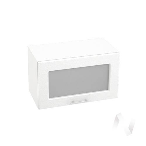 """Кухня """"Вега"""": Шкаф верхний горизонтальный со стеклом 600, ШВГС 600 (белый металлик/корпус белый)"""