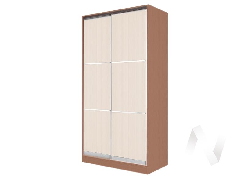 Шкаф-купе «Жаклин» 2-х дверный тройной ЛДСП (ясень шимо темный/дуб сонома)  в Томске — интернет магазин МИРА-мебель