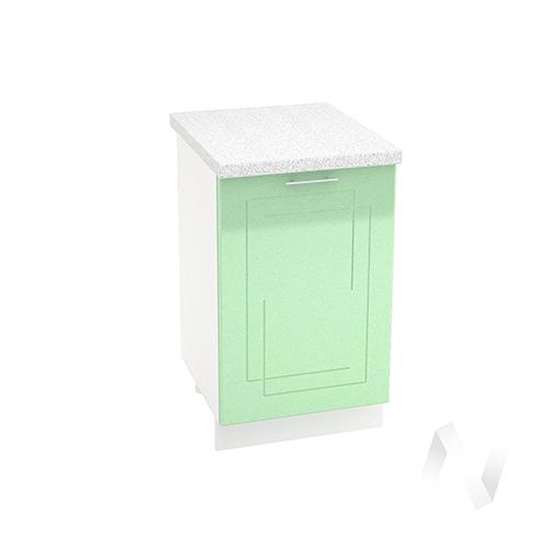 "Кухня ""Вега"": Шкаф нижний 500, ШН 500 (салатовый металлик/корпус белый)"