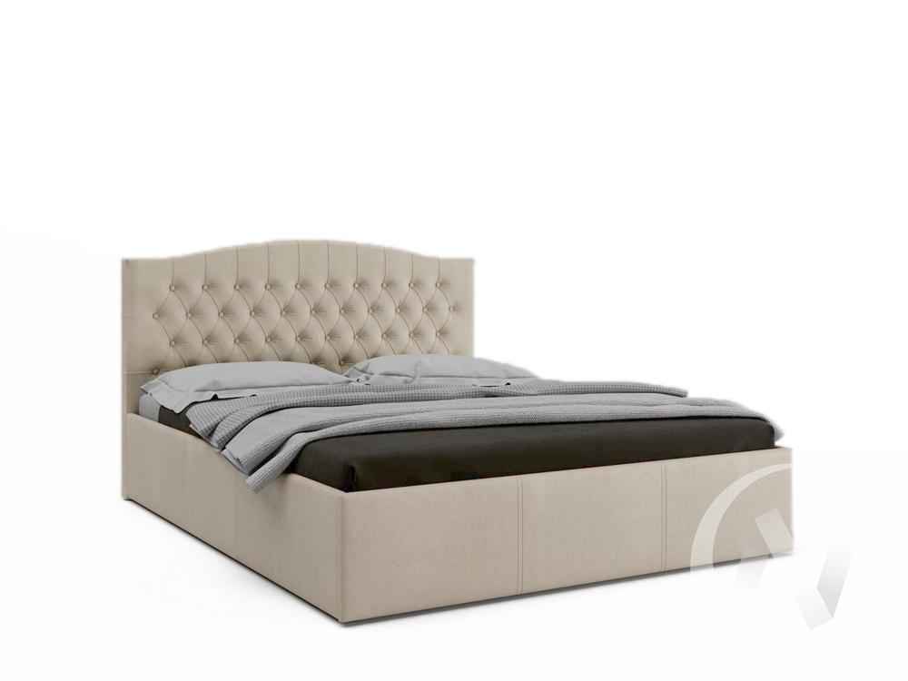 Кровать Валенсия 1,6 с подъемным механизмом (бежевая)