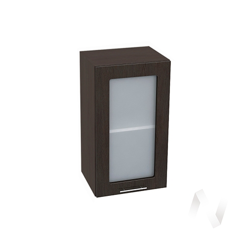 """Кухня """"Валерия-М"""": Шкаф верхний со стеклом 400, ШВС 400 (венге/корпус венге)"""