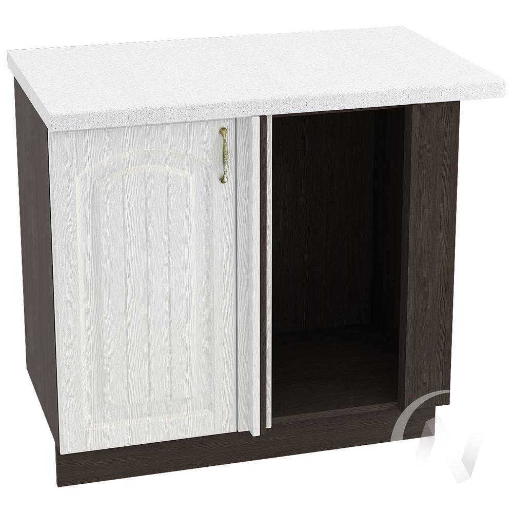 """Кухня """"Верона"""": Шкаф нижний угловой 990М, ШНУ 990М, левый (ясень золотистый/корпус венге)"""