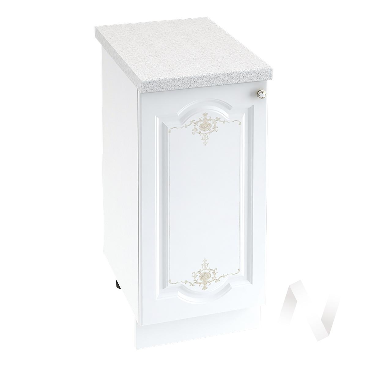 """Кухня """"Шарлиз"""": Шкаф нижний 400, ШН 400 (корпус белый) в Новосибирске в интернет-магазине мебели kuhnya54.ru"""