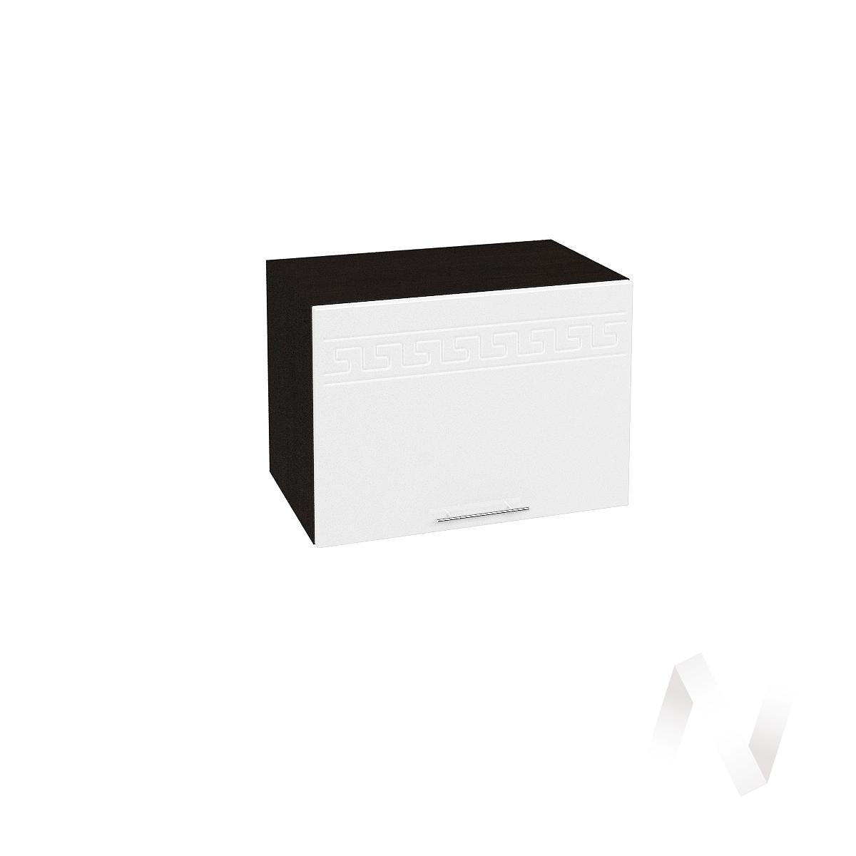"""Кухня """"Греция"""": Шкаф верхний горизонтальный 500, ШВГ 500 (белый металлик/корпус венге)  в Новосибирске - интернет магазин Мебельный Проспект"""