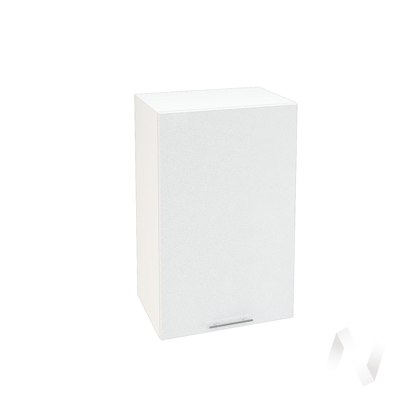 """Кухня """"Валерия-М"""": Шкаф верхний 450, ШВ 450 (белый гленец/корпус белый)"""