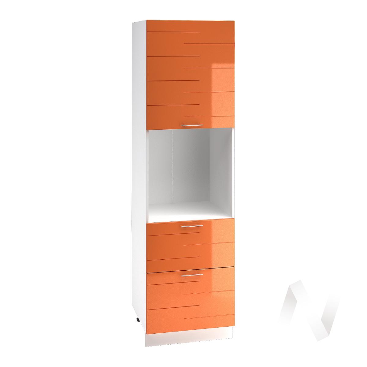 "Кухня ""Техно"": Шкаф пенал с 2-мя ящиками 600, ШП2Я 600 (корпус белый)"