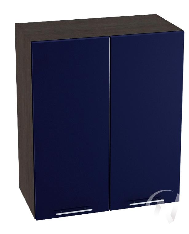 "Кухня ""Валерия-М"": Шкаф верхний 600, ШВ 600 (Синий глянец/корпус венге)"