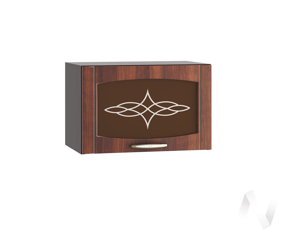 """Кухня """"Неаполь"""": Шкаф верхний горизонтальный со стеклом 500, ШВГС 500 (Италия/корпус венге)"""