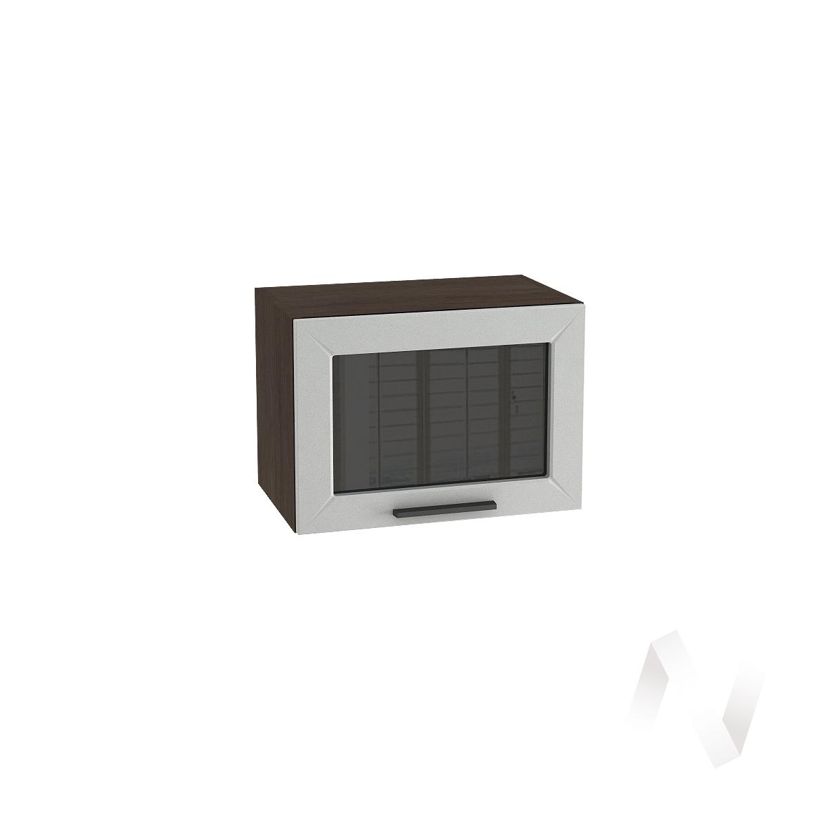 """Кухня """"Глетчер"""": Шкаф верхний горизонтальный со стеклом 500, ШВГС 500 (Гейнсборо силк/корпус венге)"""