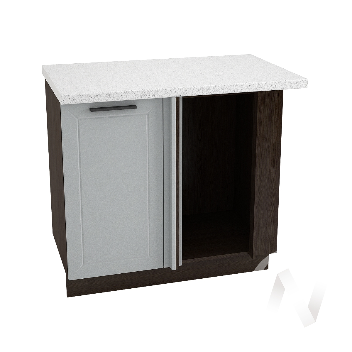 """Кухня """"Глетчер"""": Шкаф нижний угловой 990М, ШНУ 990М (Гейнсборо Силк/корпус венге)"""