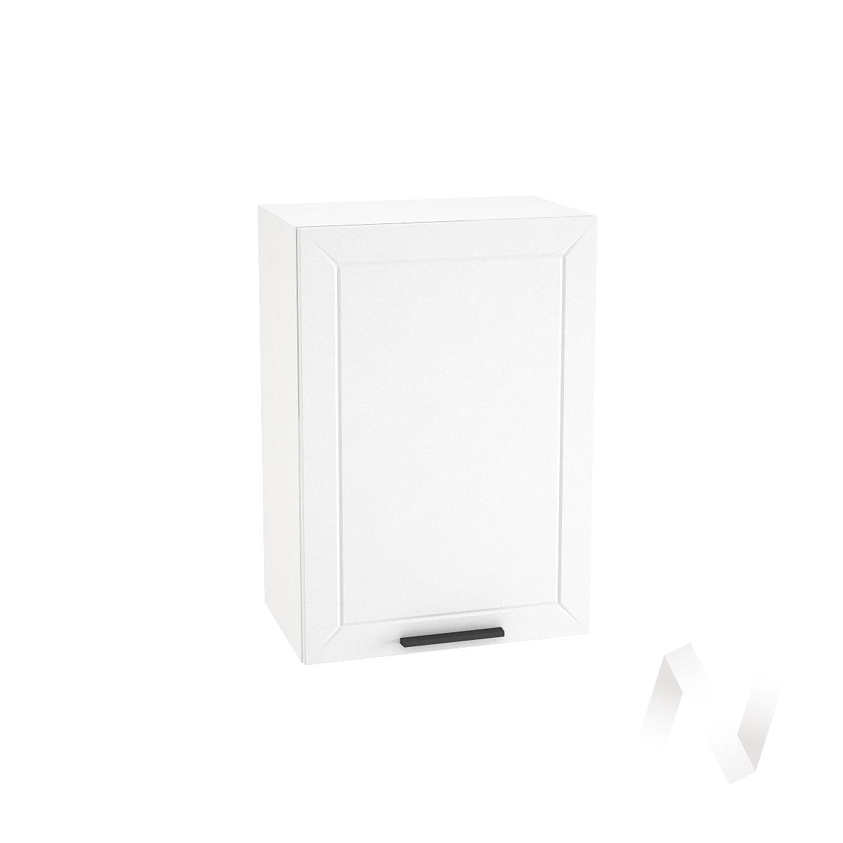 "Кухня ""Глетчер"": Шкаф верхний 500, ШВ 500 (Айленд Силк/корпус белый)"