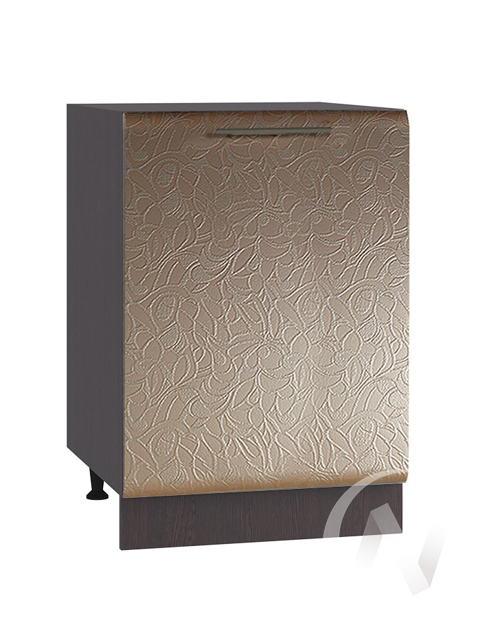 "Кухня ""Люкс"": Шкаф нижний 500, ШН 500 (Гобелен шампань/корпус венге)"