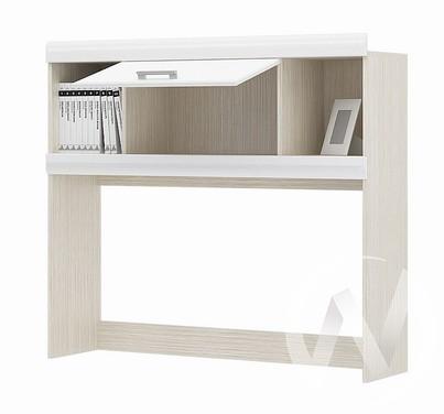 Надстройка стола Симба (дуб белфорд/белый глянец)  в Томске — интернет магазин МИРА-мебель