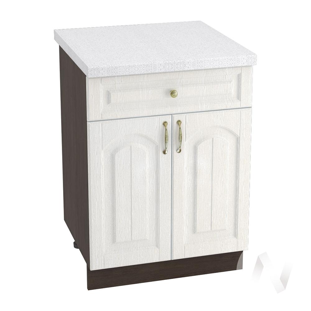 """Кухня """"Верона"""": Шкаф нижний с ящиком 600, ШН1Я 600 М (ясень золотистый/корпус венге)"""