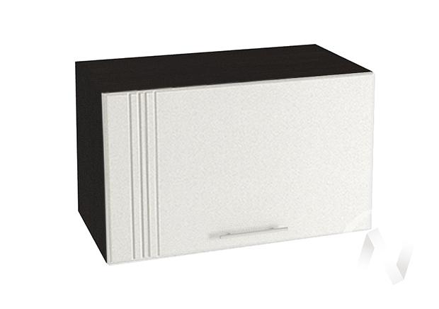 "Кухня ""Струна"": Шкаф верхний горизонтальный 600, ШВГ 600 (белый металлик/корпус венге)"